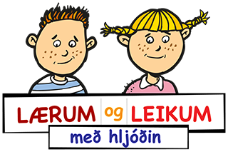 Logo Lærum og leikum með hljóðin