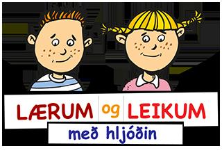 Logo Lærum og leikum með hljóðin